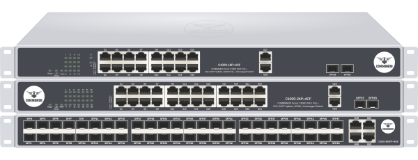 SCOUT C1000 Series Fast Ethernet PoE+ Switches