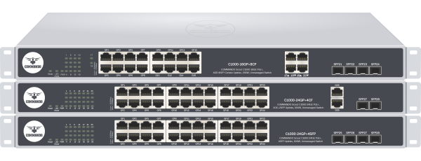 SCOUT C1000 Series Gigabit PoE+ Switches