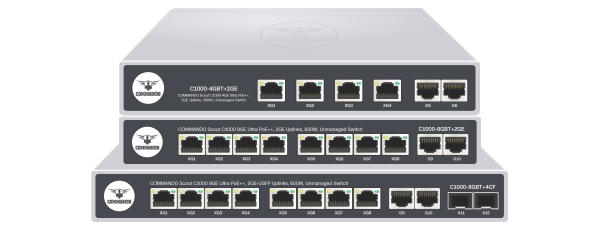 SCOUT C1000 Series Gigabit Ultra PoE++ Switches