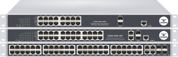 SOLDIER C2000 Series Gigabit PoE+ Managed Switches