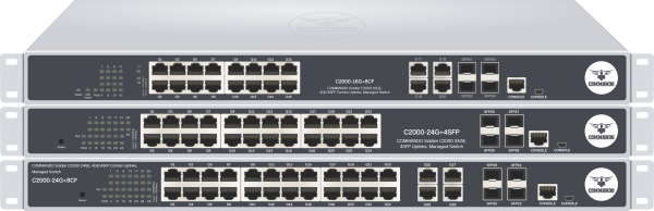 SOLDIER C2000 Series Gigabit non-PoE Managed Switches