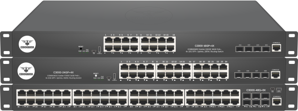 SOLDIER C3000 Series PoE+ Stackable Routing Switches