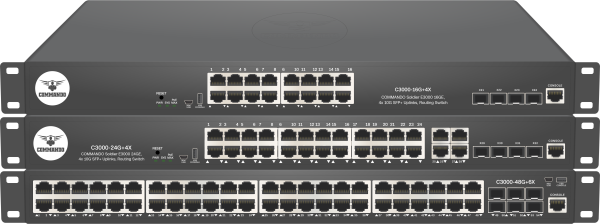 SOLDIER C3000 Series non-PoE Stackable Routing Switches