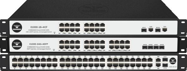 SCOUT E1000-LR Series PoE+ Long Range Switches