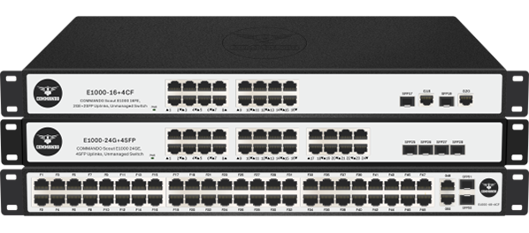SCOUT E1000 Series Fast Ethernet non-PoE Switches