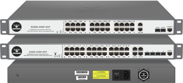 SOLDIER E2000 Series Gigabit PoE+ Managed Switches