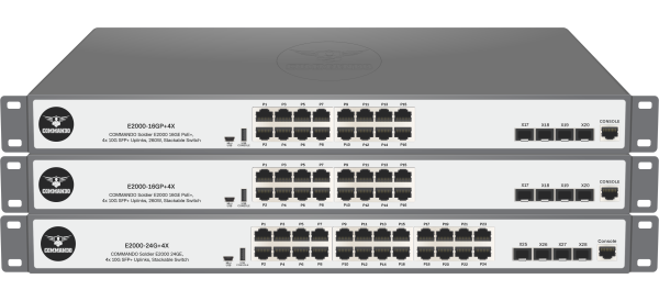 SOLDIER E2000 Series w/ 10G Uplinks Stackable Switches
