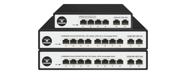 SCOUT E300 Series PoE+ Switches