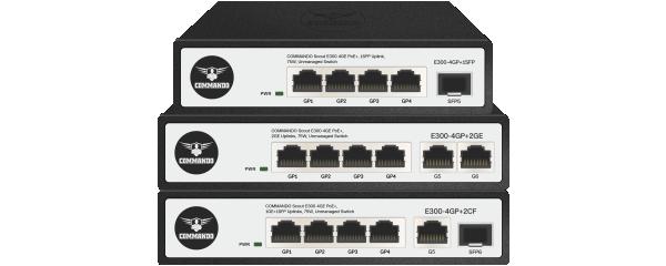 SCOUT E300 Series Gigabit PoE+ Switches