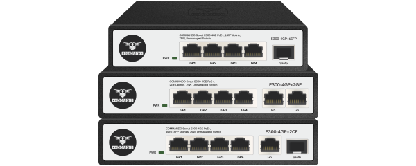 SCOUT E300 Series Gigabit non-PoE Switches