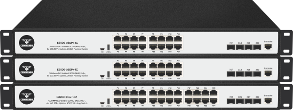 SOLDIER E3000 Series PoE+ Stackable Routing Switches
