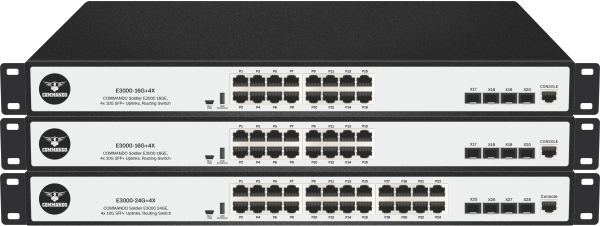 SOLDIER E3000 Series non-PoE Stackable Routing Switches