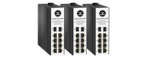 SCOUT IE1000 Series Gigabit PoE+ Industrial Ethernet Switches