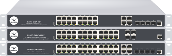 SOLDIER IE2000 Series PoE+ Industrial Ethernet Managed Switches
