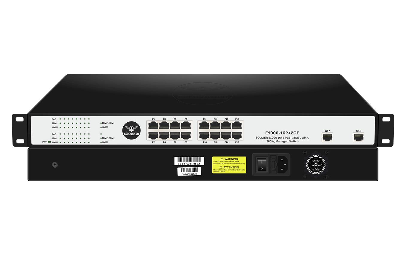 E1000-16P+2GE