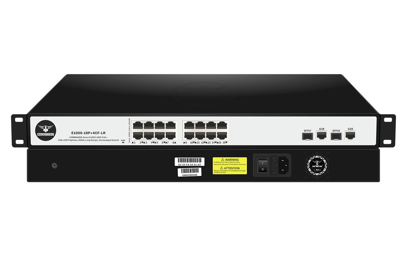 E1000-16P+4CF-LR