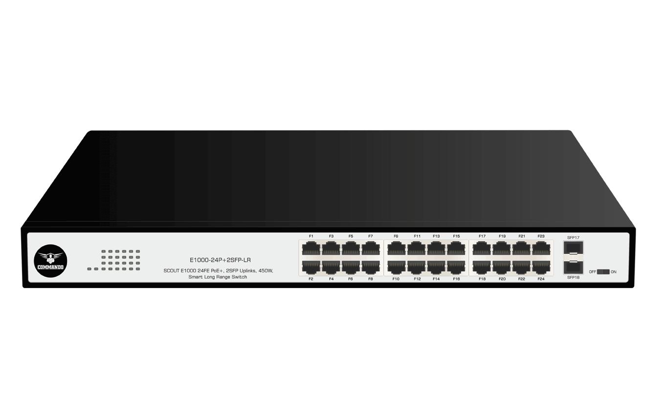 E1000-24P+2SFP-LR