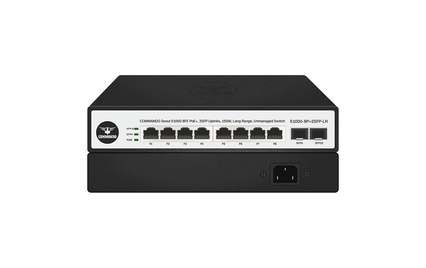 E1000-8P+2SFP-LR